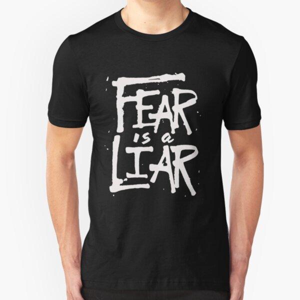 Fear is a Liar - Inspirational Christian Slim Fit T-Shirt