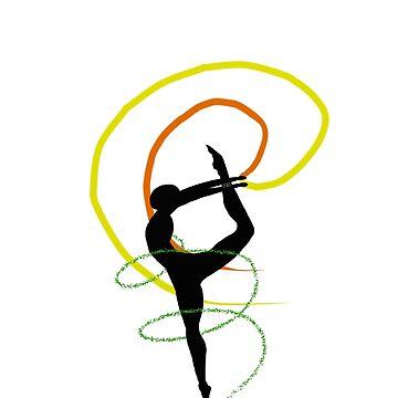 Pride Artwork: Ballerina: Aro Pride by hillyhale