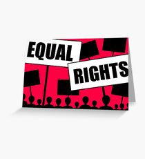 equal rights race gender age  Greeting Card