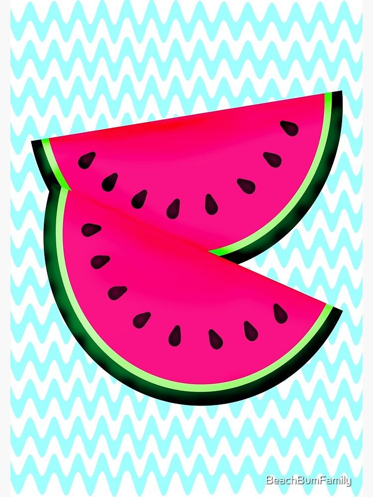 Watermelon Teal Chevron by BeachBumFamily