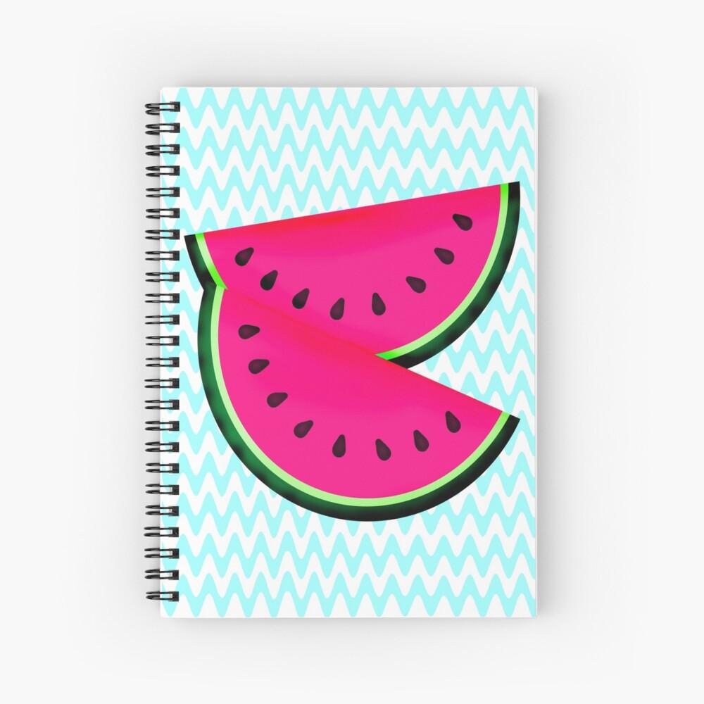 Watermelon Teal Chevron Spiral Notebook