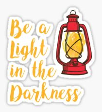 Be a Light in the Darkness Vintage Camping Lantern Sticker
