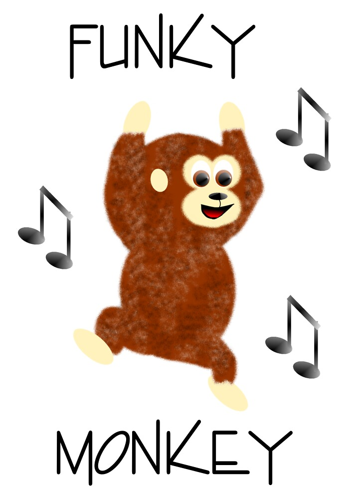 Funky Monkey Print by EddyG
