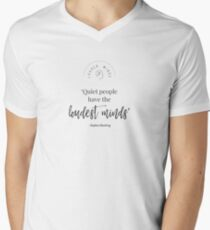 Quiet People Have the Loudest Minds Men's V-Neck T-Shirt