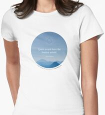 Quiet People Have the Loudest Minds (Blue) Women's Fitted T-Shirt