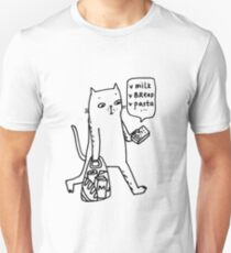 Shopping cat Unisex T-Shirt