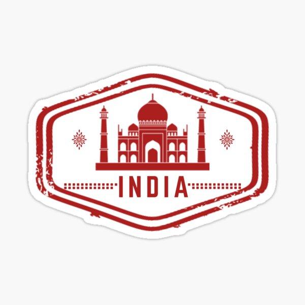 India Stamp Sticker