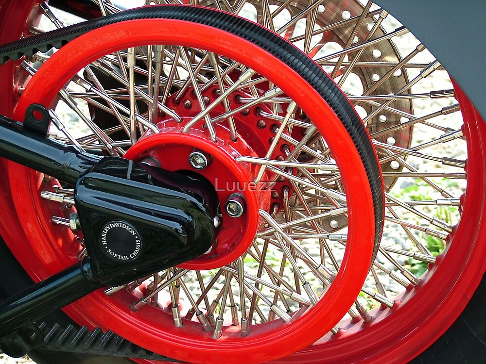 Laced Spoked Red Wheel HD by Luuezz
