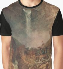 The Reichenbach falls by J M W Turner Graphic T-Shirt