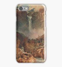 The Reichenbach falls by J M W Turner iPhone Case/Skin