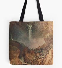 The Reichenbach falls by J M W Turner Tote Bag