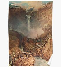 The Reichenbach falls by J M W Turner Poster