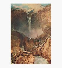The Reichenbach falls by J M W Turner Photographic Print
