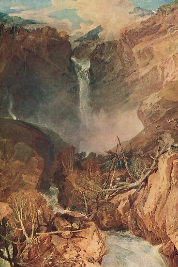 The Reichenbach falls by J M W Turner by artfromthepast