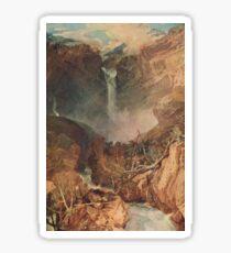 The Reichenbach falls by J M W Turner Sticker