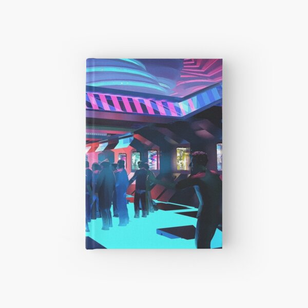 cyber punk party Hardcover Journal