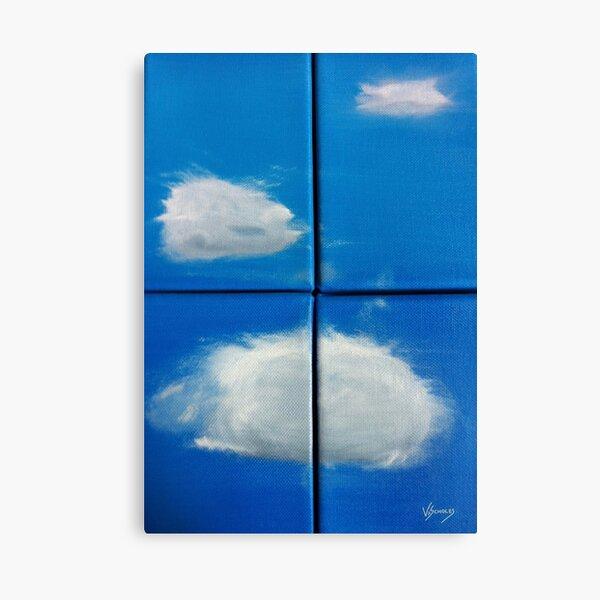 Clouds & Windows (Oils - quadriptych 30 x 20cm) Canvas Print
