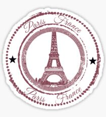 Paris Stamp Sticker