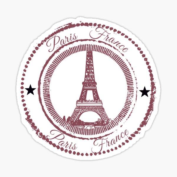 Pariser Briefmarke Sticker