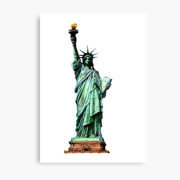 Statue of Liberty Illustration Metal Print