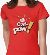 Caf-Pow - Distressed Variant 1 Womens Fitted T-Shirt