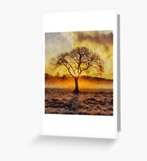 Lone Tree in Autumn by Sarah Kirk Greeting Card