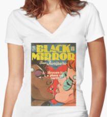 San Junipero // Comic Women's Fitted V-Neck T-Shirt