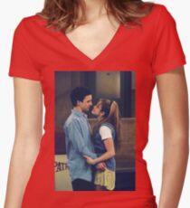 Cory and Topanga Women's Fitted V-Neck T-Shirt