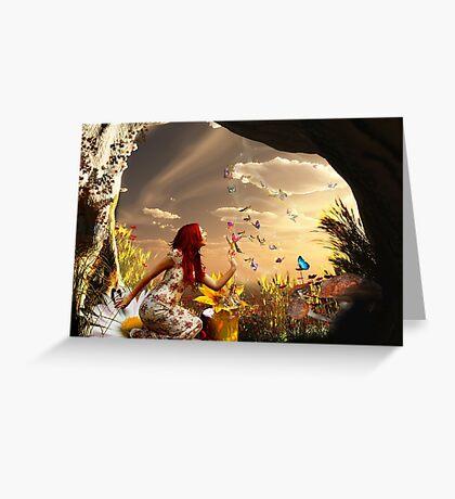 Endless summer butterfly dance Greeting Card