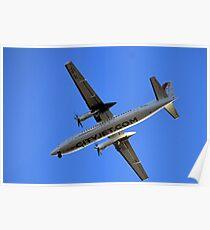 City Jet Over Exeter,Devon UK Poster