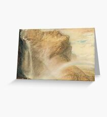 The Upper Reichenbach falls & Rainbow, J M W Turner circa 1818 Greeting Card