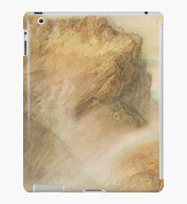 The Upper Reichenbach falls & Rainbow, J M W Turner circa 1818 iPad Case/Skin