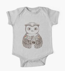 Drawing owl with camera One Piece - Short Sleeve
