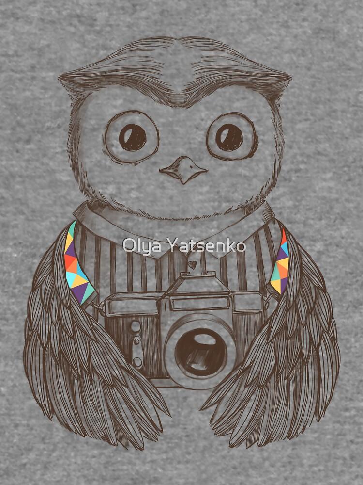 Eule mit Kamera zeichnen von olarty