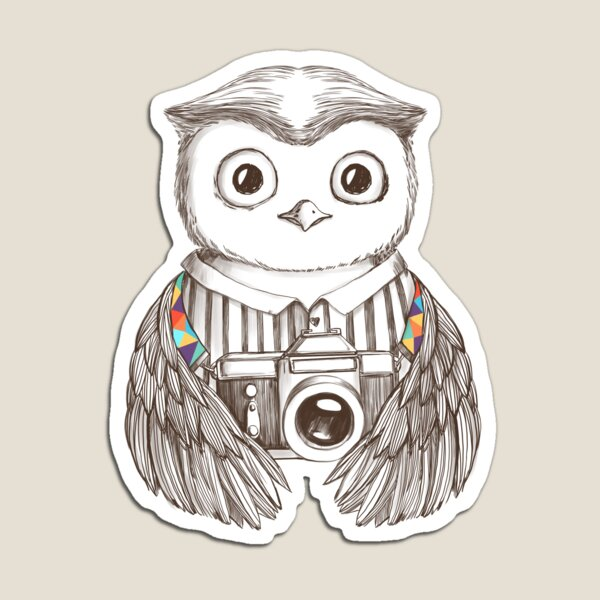 Drawing Owl with Camera Magnet