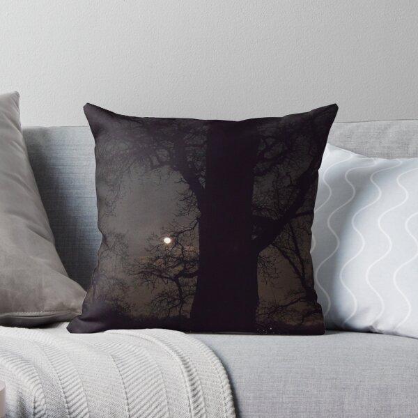 Moonlight Night Throw Pillow