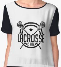 Lacrosse Is Life - Lacrosse Stick - LAX Sport Gift Women's Chiffon Top
