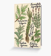 Magical Herbs Greeting Card