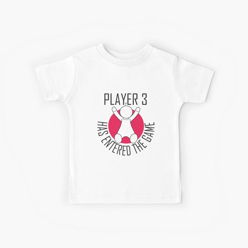 Spieler 3 hat das Spiel betreten Kinder T-Shirt