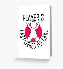 Spieler 3 hat das Spiel betreten Grußkarte