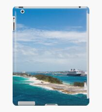 Bahamas Lighthouse with Nassau and Resort in Background iPad Case/Skin