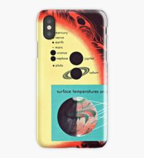 Vintage Solar System Science Chart Mars Temperature iPhone Case/Skin