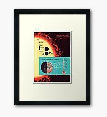 Vintage Solar System Science Chart Mars Temperature Framed Print