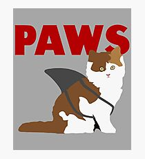 Paws - Jaws Parody Photographic Print