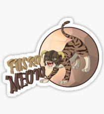 Dragonborn Cat - Fus Ro Meow Sticker