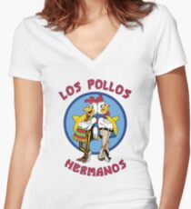 Breaking Bad - Los Pollos Hermanos Women's Fitted V-Neck T-Shirt