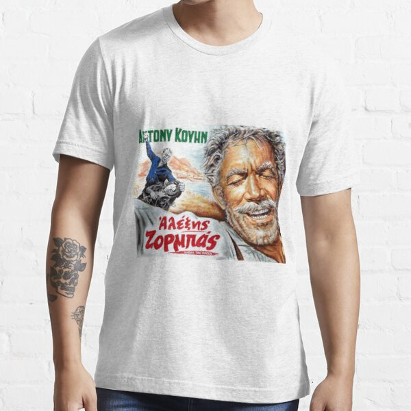 'Zorba the Greek Anthony Quinn Alexis Zorbas movie poster' Essential T-Shirt by Star Portraits Soutsos Art