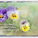 Pansies and Butterflies by Marilyn Cornwell