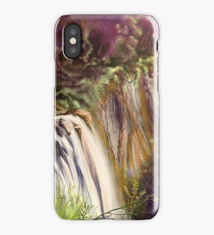 Falls of karmic sunset iPhone Case