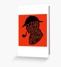 Sherlock Holmes, Consulting Detective Greeting Card